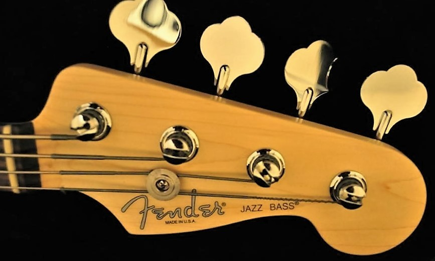 Fender jazz bass american standard headstock logo sticker for Fender bass headstock template