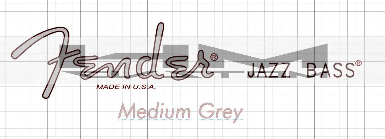 fender jazz bass american standard headstock logo sticker