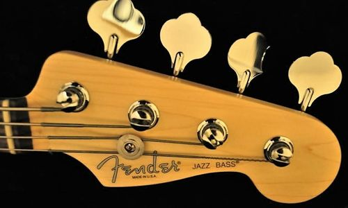 Fender Jazz Bass American Standard Headstock Logo Sticker