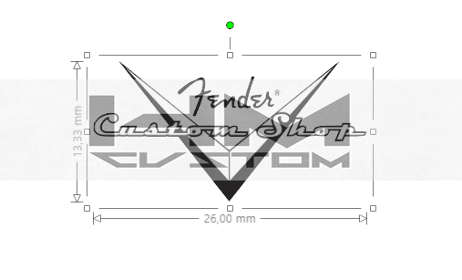 fender headstock custom shop logo decal