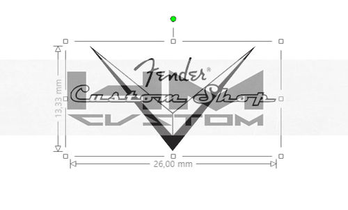 Fender Headstock Custom Shop Logo Decal