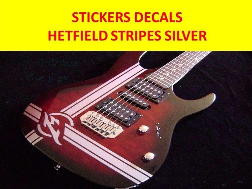James hetfield stripes guitar vinyl decal