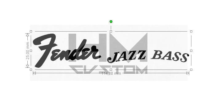 stickers fender jazz bass satu sticker