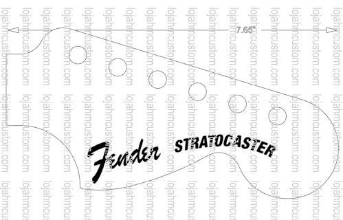 Fender Stratocaster Custom Hendrix Logo Decal
