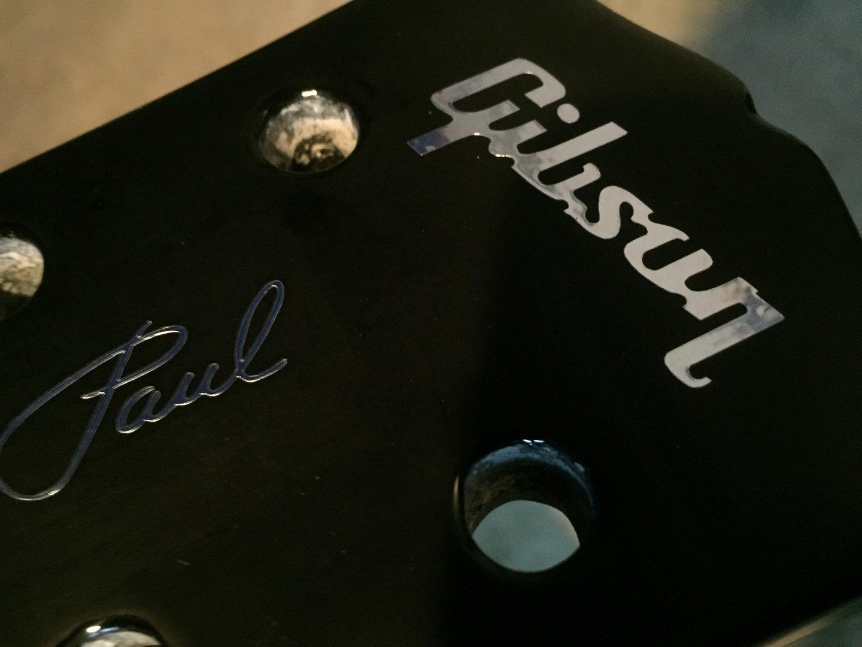 gibson guitar logo sticker les paul lettering logo em vinil. Black Bedroom Furniture Sets. Home Design Ideas
