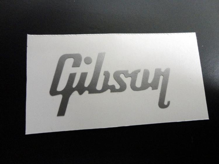 Gibson guitar logo sticker les paul lettering vinyl logo