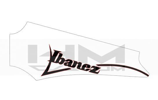 ibanez rg guitar headstock logo sticker hmcustom online shop