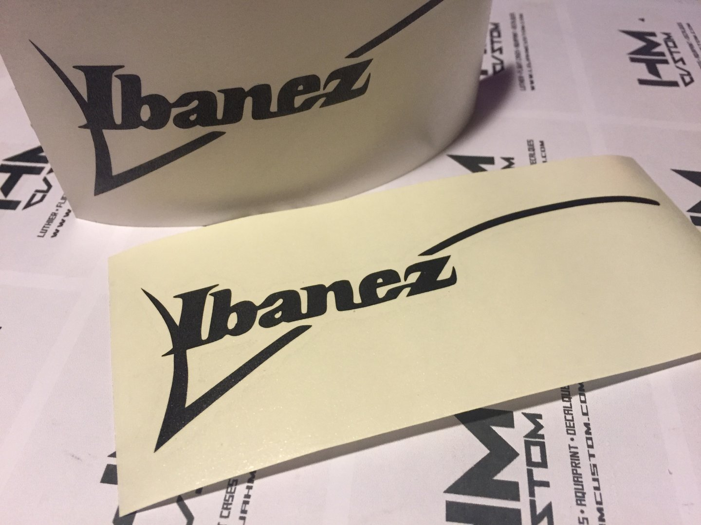 Ibanez Rg Guitar Headstock Logo Sticker Hmcustom Online Shop
