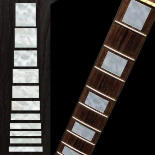 MOP Gibson Les Paul Style Block Guitar Inlays Stickers