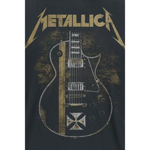 Hetfield Iron Cross Vinyl Stickers Guitar