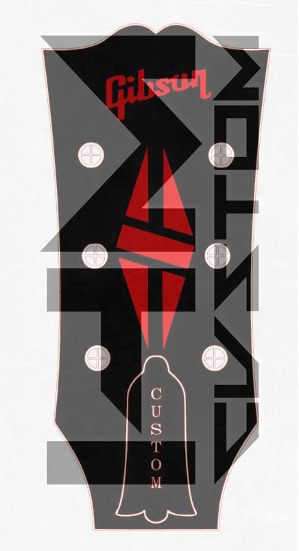 gibson lp diamond guitar logo vinyl sticker. Black Bedroom Furniture Sets. Home Design Ideas