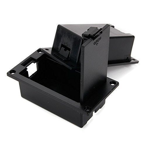Plastic Pickup 9V Battery Box Case Holder for Active Guitar Bass Black