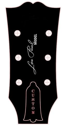 Les Paul Model Custom Headstock Logo (Waterslide)