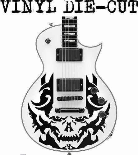 SKULL skin / decal / sticker for electric guitar (for Les P Models)