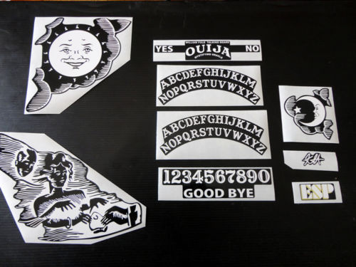 Kirk Hammett OUIJA set of custom stickers decals for electric guitar