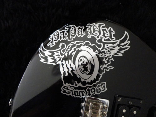 "James Hetfield ""PAPA HET"" custom electric guitar graph sticker JH"