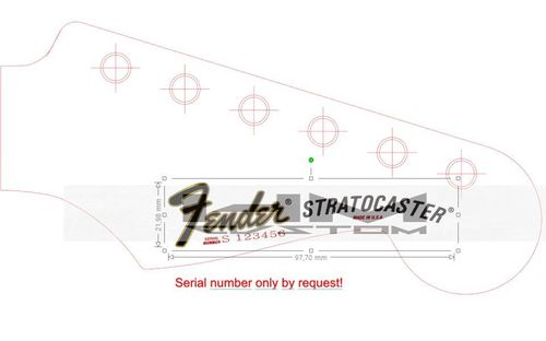 Dan Smith Era Waterslide Decal for Fender Stratocaster ( Version 1 )