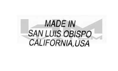 Made in San Luis California, USA Waterslide Logo Decal