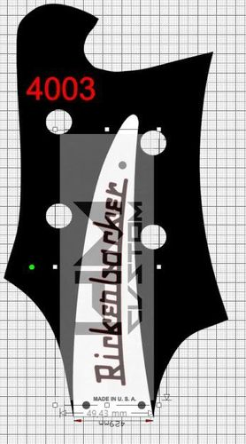 Rickenbacker 4003 Bass Logo Custom Headstock Vinyl Sticker