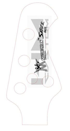 MusicMan Sabre Waterslide Bass Logo Decal