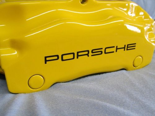 2 Porsche Car Brake Caliper Vinyl Sticker 3,35 x 0,25 in