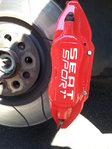 2 Seat Sport Car Brake Caliper Vinyl Sticker