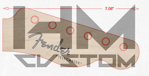 1952 Fender Telecaster Waterslide Decal Logo