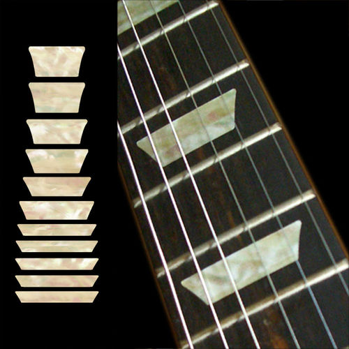 Dish /TRAPEZOID Les Paul Fret Markers Inlay Sticker Guitar