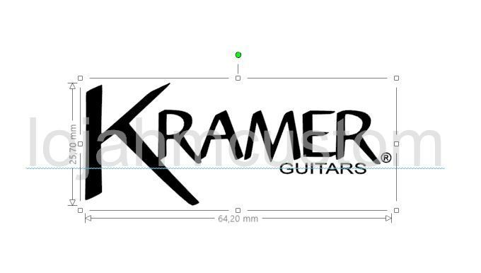 17e7729334f Kramer Nite V Custom Headstock Logo Waterslide Decal - HMCustom ...