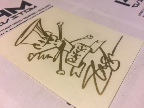 SLASH GUNS N'ROSES HEADSTOCK STICKER SIGNATURE