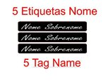 Set 5 Name Tag Sticker ( 2.64 x 0.37 in )
