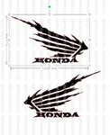 Set 2 Honda Wings Custom Vinyl Sticker