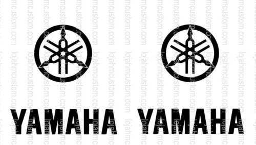 Set 2 Yamaha Logo Vinyl Sticker