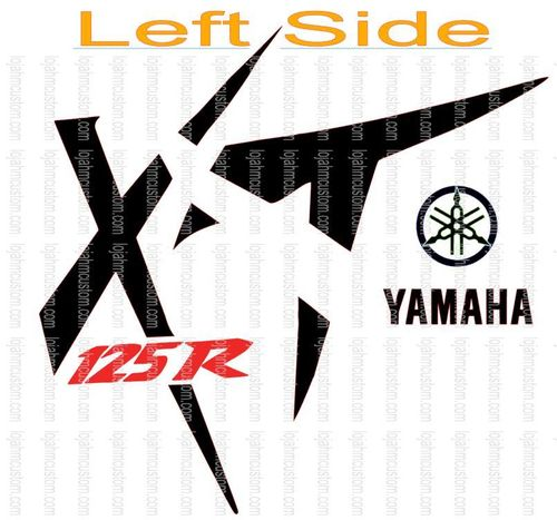 Set Yamaha XT 125R Left Side Vinyl Stickers
