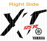 Set Yamaha XT 125R Right Side Vinyl Stickers