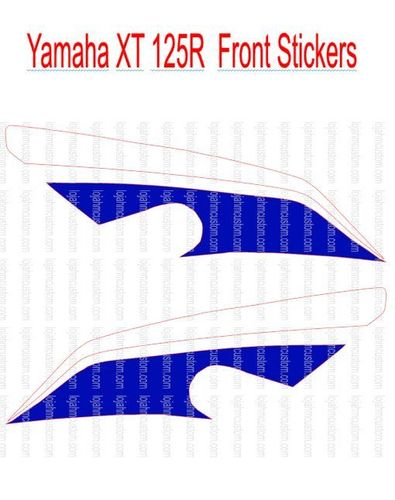 Set Yamaha XT 125R Front Vinyl Sticker