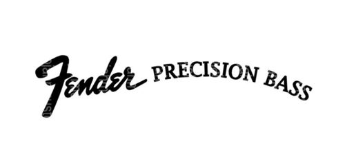 Fender Precision Bass Custom Logo vinyl Sticker