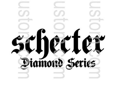 Schecter Dimond Series Waterslide Decal