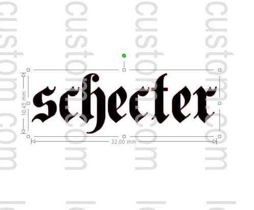 Schecter Custom Headstock Logo (Vinyl Sticker)