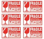 6 x 90 mm Fragil Waterproof Label Stickers