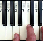 KEYNOTES Piano Stickers for 49, 54 or 61-KEY Music Keyboard