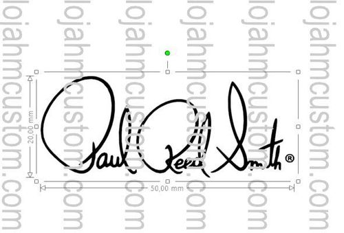 PRS Paul Reed Smith Waterslide Decal