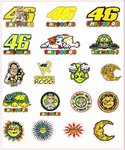 Sheet A4 Mix Stickers Valentino Rossi 30mm