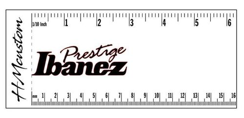 Ibanez Prestige Guitar Neck Headstock Logo Decal or Sticker