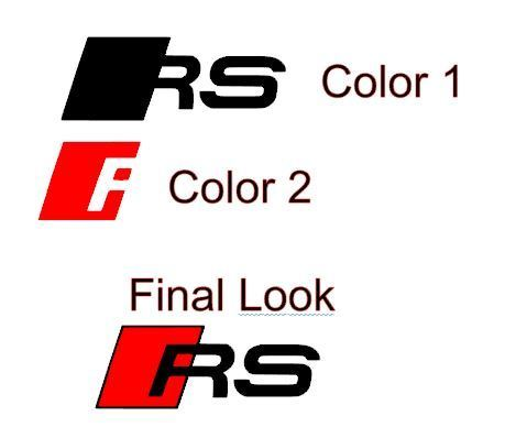 2 Audi RS Car Brake Caliper Vinyl Sticker ( Custom Colors )