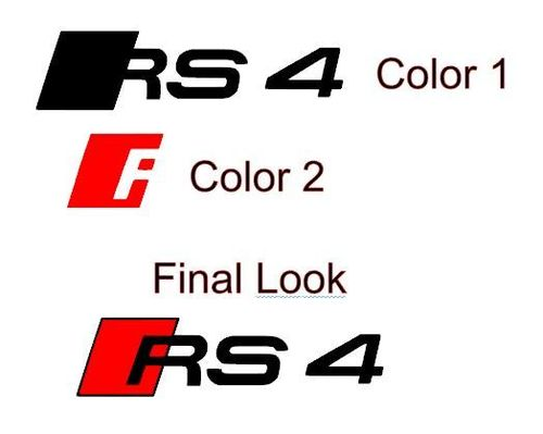 2 Audi RS 4 Car Brake Caliper Vinyl Sticker ( Custom Colors )