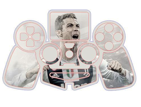 PS4 CR7 Controller Skins