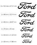 Set 2 x Ford Logo Brake Calipers Sticker Decal