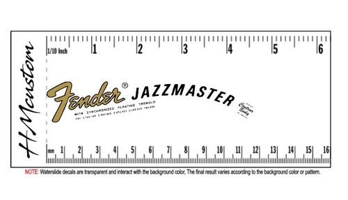 JazzMaster Headstock Waterslide Logo Decal