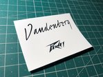 Guitar Logo Peavey Vandenberg Waterslide Decal